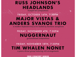 "Oct. 14th, 2016 – InDIGenous Jazz"" Concert With Major Vistas & The Anders Svanoe Trio"