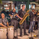 Tony Castañeda's Latin Jazz Sextet performed at Strollin' Hilldale on September 18th